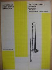 FRANCL 'Little Suite' Trombone & Piano  pub. Supraphon