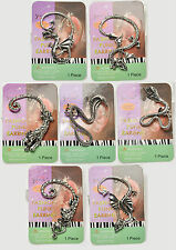 NEW GOTHIC PUNK ROCK RETRO DRAGON TIGER LEOPARD SNAKE CUFF CLIP EARRING