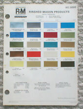 1972 DODGE Color Chip Paint Sample Chart Brochure: R-M