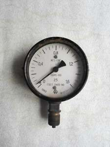 Vntg USSR Pressure Gauge.Industrial Steampunk.Funky Lamp Art projects.Made 1982.