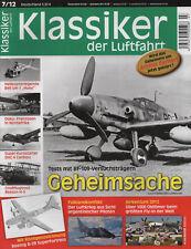 """Klassiker der Luftfahrt Augabe 07/2012-BF-109-Bell UH-1 """"Huey""""-Besson H-5-Boeing"""