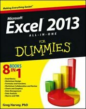 NEW Excel 2013 All-in-one For Dummies By Greg Harvey Paperback Free Shipping