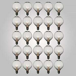 Fantado Clear 7-Watt G50 Globe Light Bulbs, E12 Candelabra Base (25 PACK) by ...