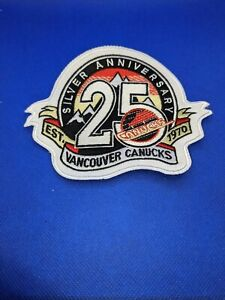 Vancouver Canucks 25th Anniversary Jersey patch