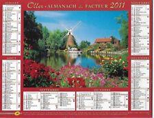 Almanach 2011 Calendrier de la poste PTT - HAUTE-SAONE 70  & Ter. de BELFORT 90