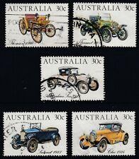 AUSTRALIA  1984 VETERAN & VINTAGE CARS SET  SG 905 -909  GOOD  USED