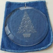 Christmas Tree Ornament _ clear round holiday