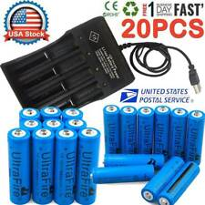 20X UltraFire Powered 18*650 Batteries 3.7V Li-ion Rechargeable Battery Chargers
