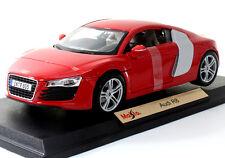 Maisto Audi R8 1:18 Diecast Model Car Red New