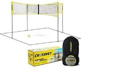 CROSSNET Four Square Volleyball Net & Backyard Yard Game Complete Set with Carry