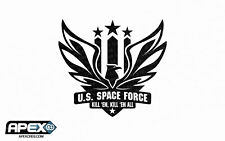 U.S. Space Force - Black - Funny Patriotic Trump Vinyl Sticker Starship Troopers