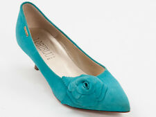 New  Loriblu Turquoise Suede Leather Made in Italy Pumps Size 37 US 7
