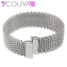 Bangle Women Cuff Bangles Stainless Steel Simple Design Metal Silver Thin Bangle