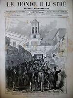 CONSTANTINOPLE POPULATION GRECQUE AMBASSADE DE FRANCE 14 JUILLET CHERBOURG 1880