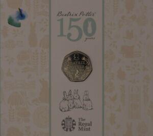 Beatrix Potter - Peter Rabbit BUC UNC 50p coins and albums 2016 - 2018