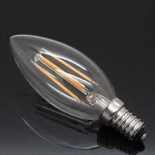 E14 LED bulbs Glass filament 6W CANDLE SHAPE plastic 4W SES bulb VALUE PACK UK