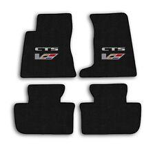 2004-2007 Cadillac CTS-V - Ebony Velourtex Carpet 4pc Floor Mat Set with Logo