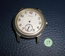 37)⌚ ELGIN 40er Vintage Military Watch WW II WK 2 US Army Parts Case Mouvement