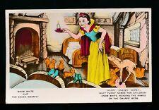 WALT DISNEY Film Snow White House Beds Dwarfs 1930s Valentine RP PPC no number