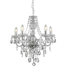 Searchlight 8885-5CL Marie Therese 5 Light Chandelier Clear & Chrome