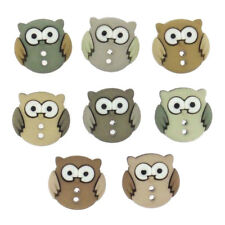 Sewing Childrens Buttons - Owls - Novelty Buttons Cake Decorations Craft Project