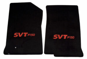 1999-2001 Ford F-150 Truck 2pc Black Front Floor Mats with Red SVT F150 Logo