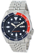 New Seiko SKX175 Men's Stainless Steel Dark Blue Dial 200M Automatic Diver Watch