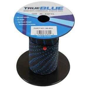 """TrueBlue 100' Starter Rope For Stens 3/32"""" Dia, 100'L, 2 Size; 146-903"""