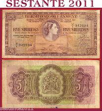 BERMUDA GOVERNMENT-   5  SHILLINGS  2.5. 1957   - P 18b   -     BB / VF