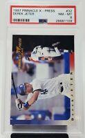 1997 Pinnacle X-Press #32 Yankees HOF DEREK JETER Card PSA 8 NM-MT Low Pop 11