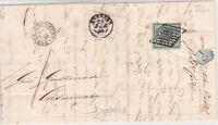 STATO PONTIFICIO 1 baj 8 filetti su lettera 1856 da Pontelagoscuro  cv 775€