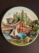 Vintage Chalkware/Plaster Wall Hanging Plate Castle Character Creations Canada
