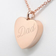 ROSE GOLD DAD URN NECKLACE MOM CREMATION JEWELRY FATHER URN CREMATION URN
