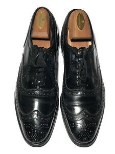 Allen Edmond's McAllister Men's Leather Black Wingtip Brogue Oxfords - 9.5 USA