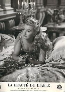 La Beauté du diable -1949-R.Clair -S.Valère -cartoline 23,5 x 30 cm -N & B