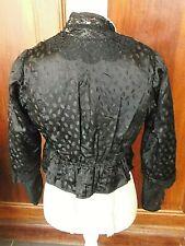 Linge Ancien haut de robe Caraco Noire  Robe 1900