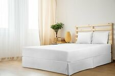 Hotel Quality Twin Size White Solid Split Corner Bed Skirt Soft & Fade Resistant
