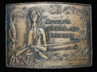 OB15130 VINTAGE 1970s **ADOLPH COORS & CO. BREWERY** BEER BRASSTONE BELT BUCKLE