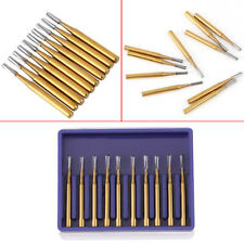 10pcs/set High Speed Dental Tungsten Steel Crown Metal Cutting Burs