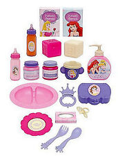Disney Princess Deluxe Doll Care Set Pretend Play Baby Dolls Accessories Playset