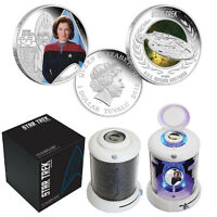 2015 Star Trek Captain Kathryn Janeway U.S.S Voyager 1oz Silver Proof 2-Coin Set
