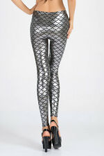 Boldgal Silver Jeggings Stretchable Jeans Ladies Metallic Pants Women Leggings