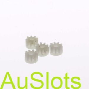 Scalextric W8100 / L7085 White Pinion 4 pack