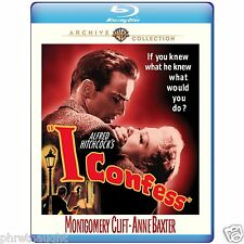 I Confess Blu-ray Alfred Hitcock Directs Montgomery Clift Stars