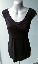 Brand New w/ tags Bailey 44 Sleeveless Criss Cross Wrap Black Top - Size S / XS