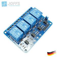 4-Kanal 5V Relais Modul mit Optokoppler für u.a. Arduino (4Ch Active-Low)