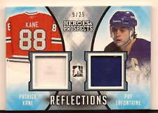 PATRICK KANE & LAFONTAINE 16-17 LEAF HEROES & PROSPECT DUAL GAME USED JERSEY /25