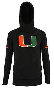 adidas NCAA Women's Miami Hurricanes Climawarm Team Fleece Hoodie, Black