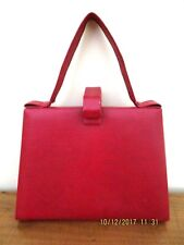 -VINTAGE WOMEN'S LIZARD SKIN RED HANDBAG - GC~