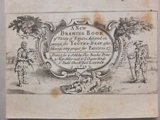 """1720 Curious """"DRAWING BOOK"""" Engraving"""
